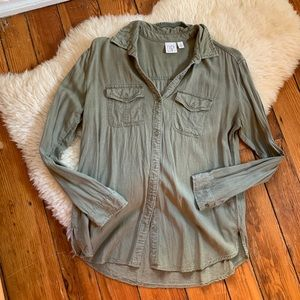 Nordstrom💕BP Olive Green Button Down Shirt S